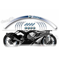 Kit Adesivo Friso Refletivo Roda Moto Bmw Fri07 Decalx