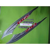 Kit Jogo Adesivo Honda Biz 125 Ex 2014 Preto Frete R$9,90