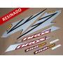 Kit Adesivos Nxr150 Esd Bros 2007 Preta - Resinado - Decalx