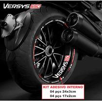 Adesivo Friso Refletivo Kawasaki Versys 650 1000 Adesivo Int