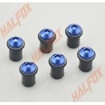 Kit Com 6 Parafusos De Aluminio Azul Para Bolha De Moto