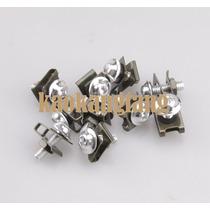 Kit Com 10 Parafusos M6 Aluminio Prata Para Carenagem Moto