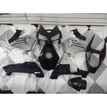 Kit Carenagem Cbr 600 2005 2006 Preto E Prata Completo