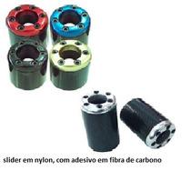 Slider Fibra De Carbono - Honda Cg 150 Titan Melhor Preço