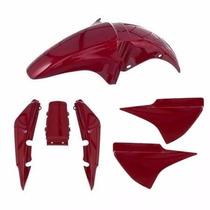 Kit Plástico Carenagem P/ Titan 150 Ano 2004 2005 - Vermelho