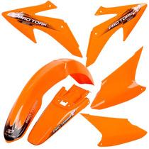 Kit Plasticos Roupa Honda Crf 230 Pro Tork Laranja + Brinde