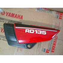 Rd 135 Tampa Lateral Esquerda Vermelha Original Yamaha 0km