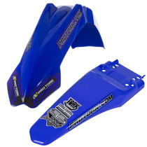 Kit Paralamas Dianteiro+traseiro Pro Tork Mx2 Universal Azul