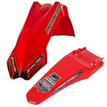 Paralama Dianteiro+ Traseiro Pro Tork Mx2 Universal Vermelho