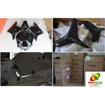 Kit Carenagem Cbr600 F5 2009-2013 Preto Completoc Acabamento