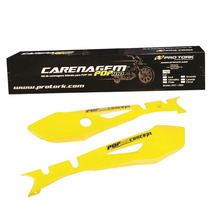 Kit Carenagem Lateral Honda Pop100 Amarelo