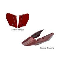 Carenagem Traseira+abas Cbx250 Twister Vermelho 2008