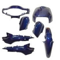 Kit Carenagem Honda Biz 100 Comp. Ano 2004 Azul Melc