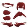 Kit Plástico Carenagem P/ Biz 100 Ano 2000 2001 - Vermelho