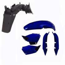 Kit Carenagem + Paralama Traseiro P/ Titan 125 Ano 2000 Azul