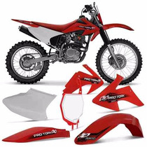 Kit Plasticos Crf230 Roupa Crf 230 Pro Tork + Number Plate
