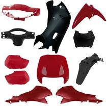 Kit Completo Plásticos Carenagem Honda Biz 100 1998 A 2005