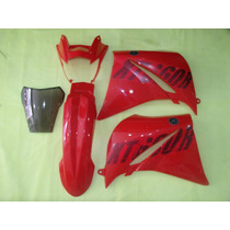 Kit Carenagem Xt660 Vermelha 2009 Com Bolha Speed