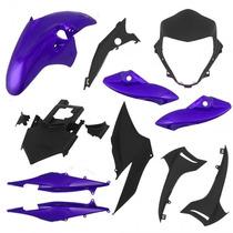 Kit Plástico Carenagem P/ Cb 300 Ano 2011 - Azul Metálico