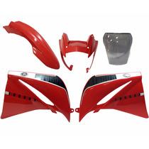 Kit Xt660 Carenagem Vermelha C/ Bolha Envio Imediato