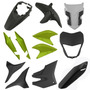 Kit Plástico Carenagem P/ Xre 300 Ano 2012 Verde Metálico