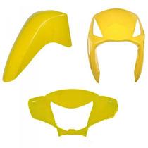 Kit Plástico Carenagem P/ Biz 125 Ano 2008 2009 - Amarelo