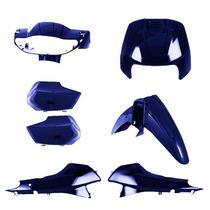 Kit Plástico Carenagem P/ Honda Biz 100 Ano 1998 1999 Azul