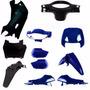 Kit Carenagem Completa Biz 100 Ano 2002 2003 Azul Perolizado