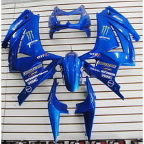 Kit Carenagem Ninja 250 Azul A Pronta Entrega