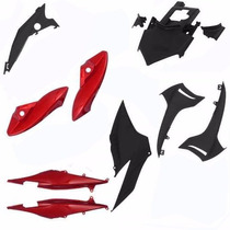 Kit Carenagem Plastico P/ Cb 300 Ano 2010 2011 2012 Vermelho