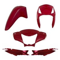 Kit Plástico Carenagem P/ Biz 125 Es Ks Ano 2006 - Vermelho