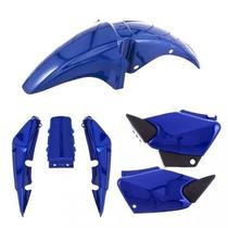 Kit Plástico Carenagem P/ Titan 150 Ano 2004 Azul Perolizado