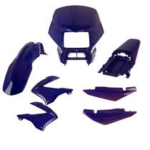 Kit Plástico Carenagem P/ Bros 125 150 Ano 2003 2004 - Azul