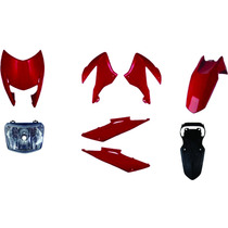 Carenagem Bros 150 Vermelho 2011/2012 Kit Completo+farol