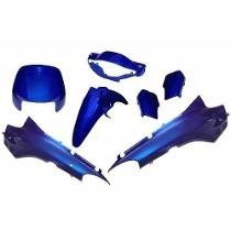 Kit Carenagem Honda Biz 100 Comp. Ano 98/99 Azul Metálico