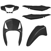 Kit Carenagem Honda Biz 125 Preto 2006 2007 2008 2009 2010