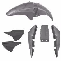 Kit Plastico Carenagem P/ Titan 150 Ano 2008 Prata Metálico