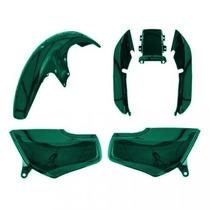 Kit Carenagem P/ Titan 125 Ano 1999 Mod 2000 Verde Metálico