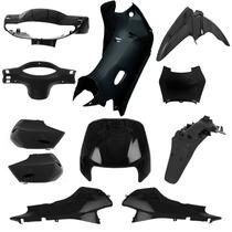 Kit Plásticos Carenagem Honda Biz 100 1998 A 2005 Preto