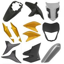 Kit Plástico Carenagem P/ Xre 300 Ano 2010 Amarelo Metálico