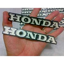 Par Emblema Honda Do Tamque Cg125 77/82. De Plastico Pvc