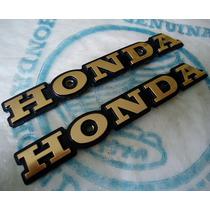 Par Emblema Do Tanque Cb400 Cb450 Custom Novo Origina Honda