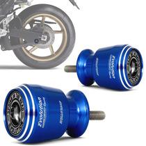 Slider Traseiro Moto Universal Racing Azul M6 Evolution