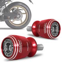 Slider Traseiro Racing Universal Moto Evolution Vermelho M10