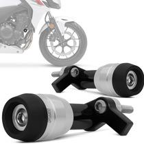 Slider Moto Cb 500f 2013 2014 Dianteiro Racing Prata Rsi
