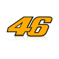 Adesivo 46 Valentino Rossi Amarelo Frete Grátis