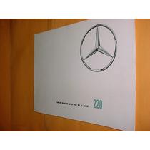 Folder Raro Mercedes Benz 220 Rabo De Peixe Anos 60/70