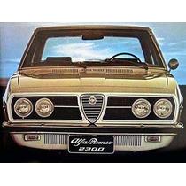 Borracha Parabrisa Alfa Romeo 2300 Todos
