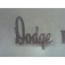 Dodge Dart Emblemas Letras Capo E Porta Mala 72/ 75
