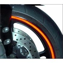 Friso Adesivo Refletivo Curvo Moto Carro Bike Rodas 10mm
